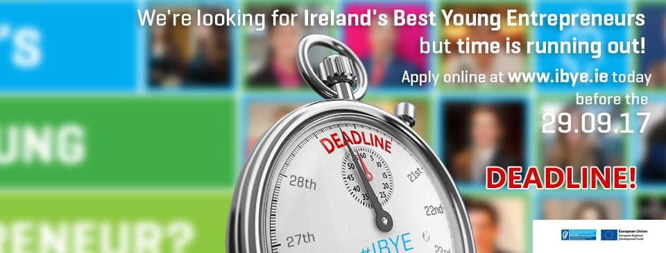 IBYE 2018 – Could you be Ireland's Best Young Entrepreneur 2018?